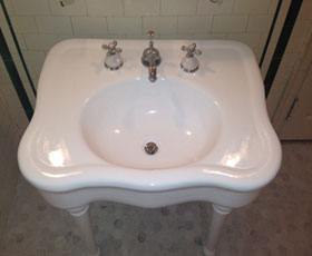 Bathroom Sink Resurfacing